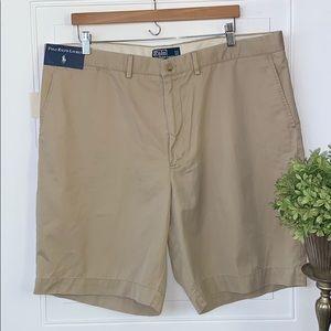 Polo khaki shorts NWT Ralph Lauren pockets 42